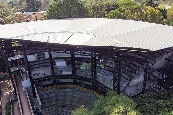 cubierta en estructura metálica